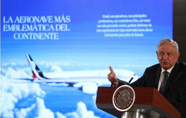 Presidente mexicano propone como medida desesperada, rifar el avión presidencial