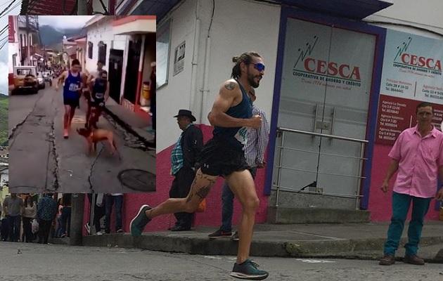 Runner le da salvaje patada a perro en plena carrera; patrocinador le retira apoyo