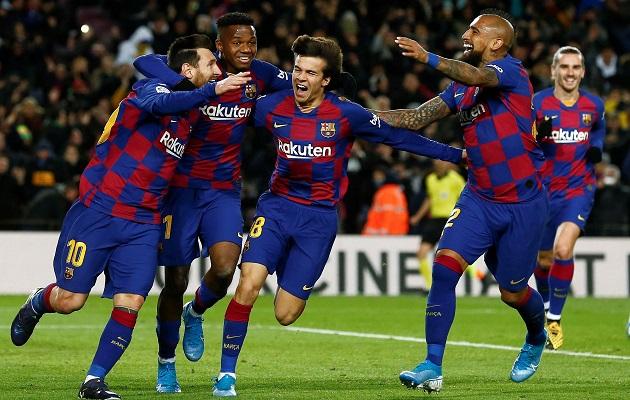 Leo Messi rescata el debut de Quique Setién en el banquillo del Barcelona