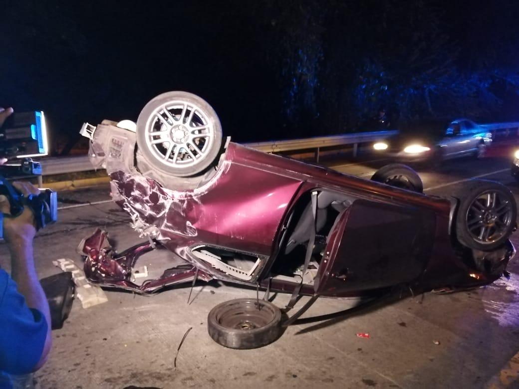 Dos personas resultan heridas en un aparatoso accidente de tránsito en Chiriquí