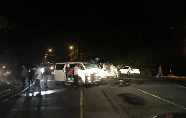 Un total de 14 heridos deja choque entre dos buses en Veracuz