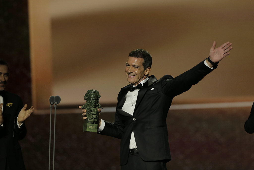 Antonio Banderas, se llevó el Goya a mejor actor protagonista. Foto: https://www.premiosgoya.com/