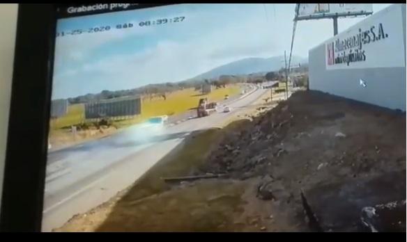 VIDEO capta accidente que dejó dos muertos en Gorgona
