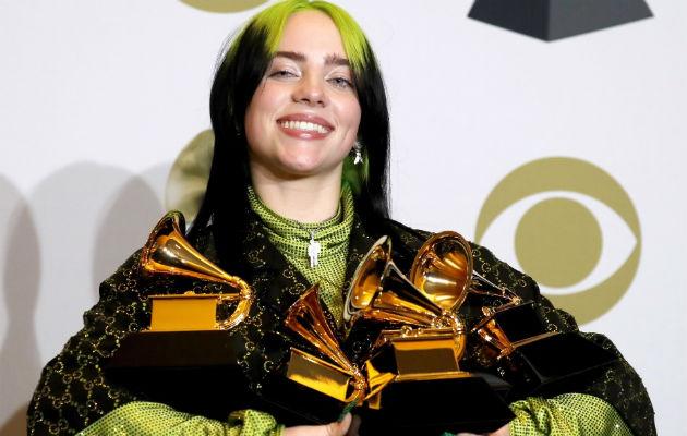 Billie Eilish, la gran triunfadora de los Grammy
