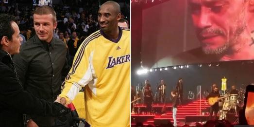 Marc Anthony rompe en llanto al recordar a Kobe Bryant