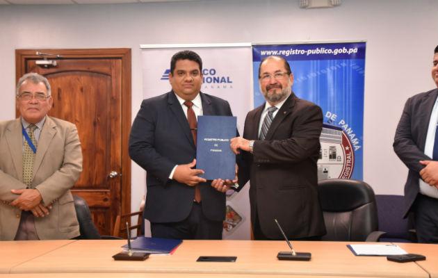 Banco Nacional firma convenio con Registro Público para agilizar trámites  de clientes