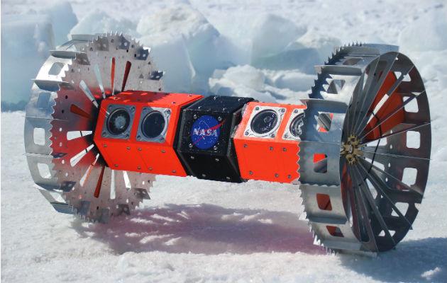 Entrenan para el espacio en hielo