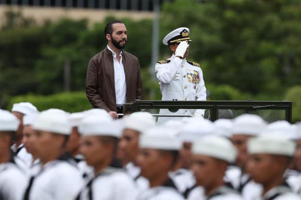 Despliegan fuerte dispositivo de seguridad en la sede del Congreso salvadoreño