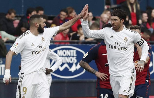 Real Madrid saca la casta de líder frente al Osasuna