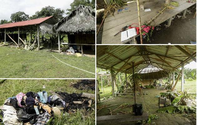 Siete personas fueron asesinadas por la secta 'Nueva Luz de Dios' entre el 11 y el 12 de febrero en la comarca Ngäbe Buglé. Foto: Panamá América.