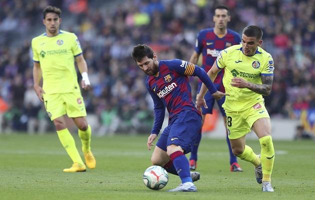 Messi  y Griezmann evitan un descalabro del Barcelona ante el Getafe