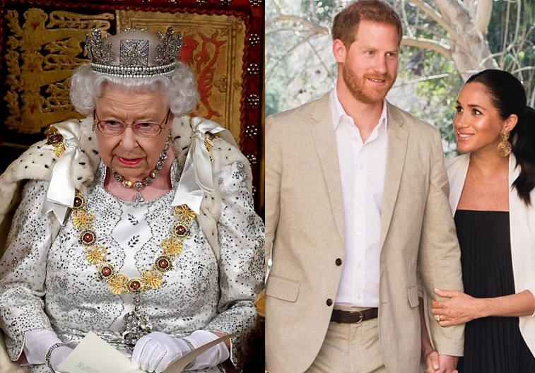 Reina Isabel II le prohibe a Harry y a Meghan usar la marca 'Sussex Royal'