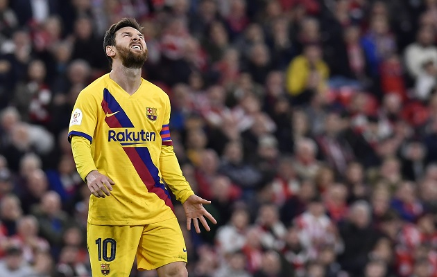 Messi y Barcelona son sacudidos por serie una de problemas