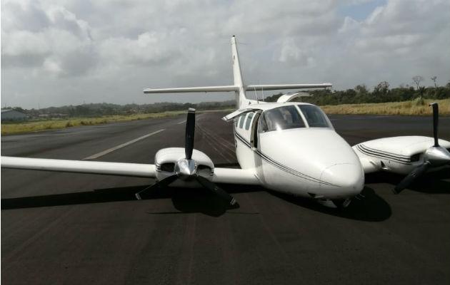 Avioneta aterriza de emergencia en aeropuerto de Colón en Coco Solo