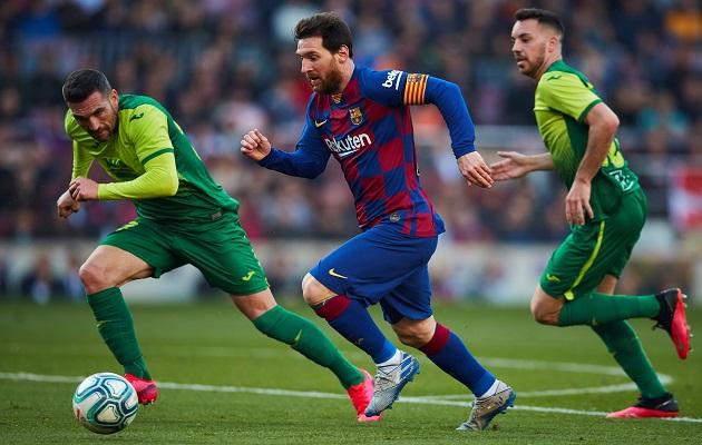 Messi anota triplete en goleada del Barcelona ante Eibar