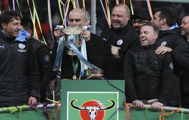 Mancherster City  se lleva la Copa de la Liga y  Guardiola suma otro título