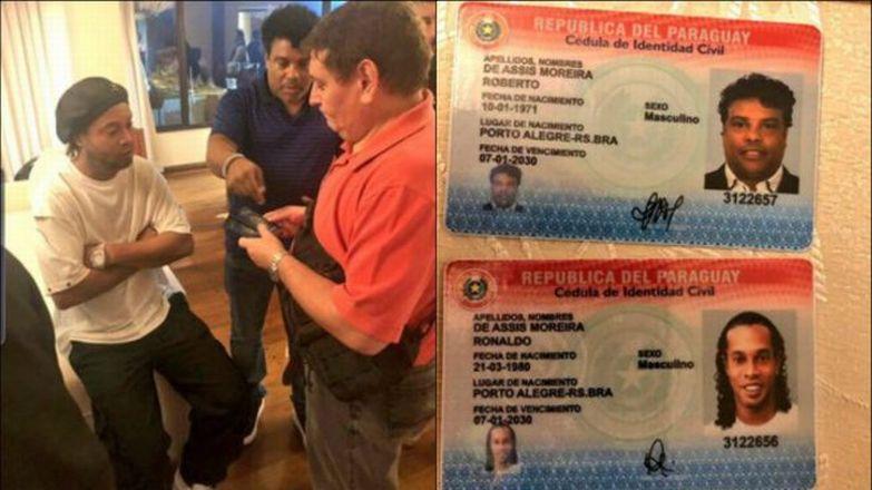 Ronaldinho entra a Paraguay con pasaporte falso y es llevado ante la justicia