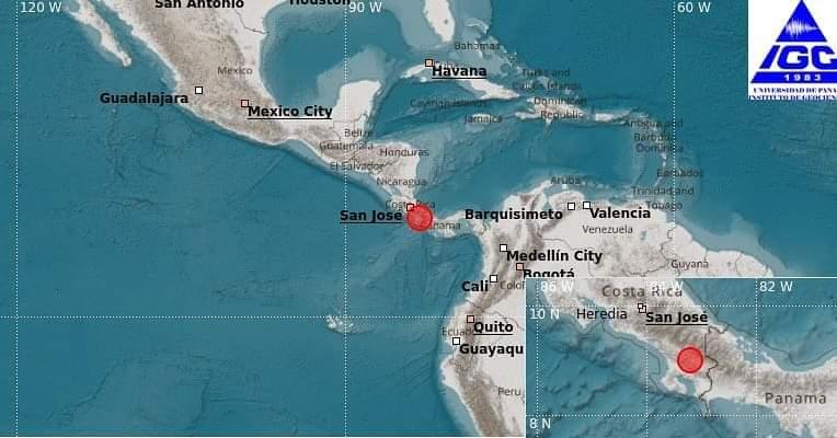 Dos fuertes sismos estremecen a la provincia de Chiriquí