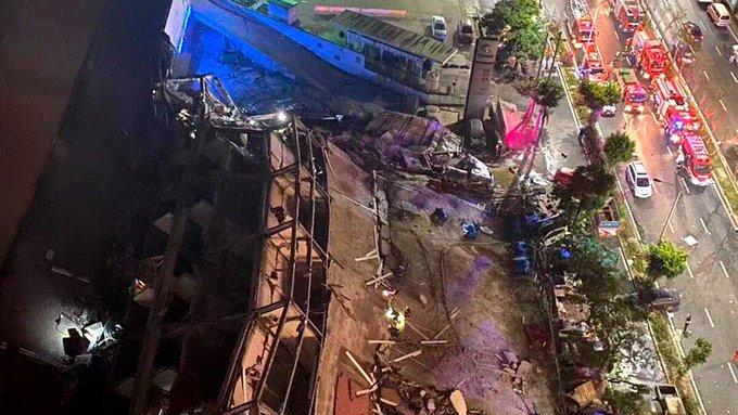 Se derrumba hotel en China con más de 50 personas en cuarentena por coronavirus
