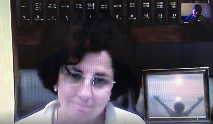 La doctora Carmen Alegría, que dio positivo para coronavirus, conversó vía Skype con Panamá América.