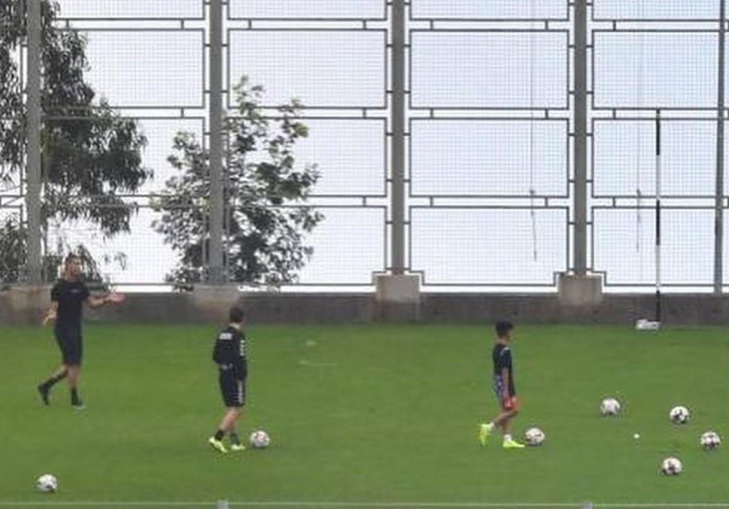 Ronaldo regresa a entrenar donde se inició en el fútbol