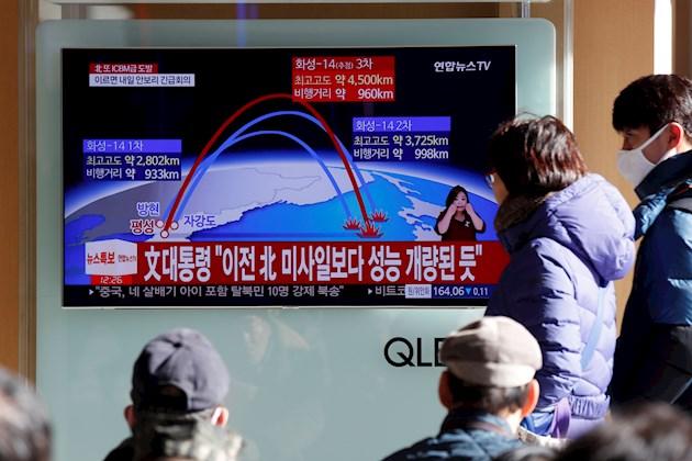 Corea del Norte lanza misiles en vísperas de importante aniversario