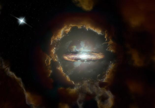 Hallan una galaxia de disco similiar al tamaño de la Vía Lactea
