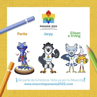 Tres finalistas en la escogencia de mascota para los Juegos Centroamericanos y del Caribe 2022