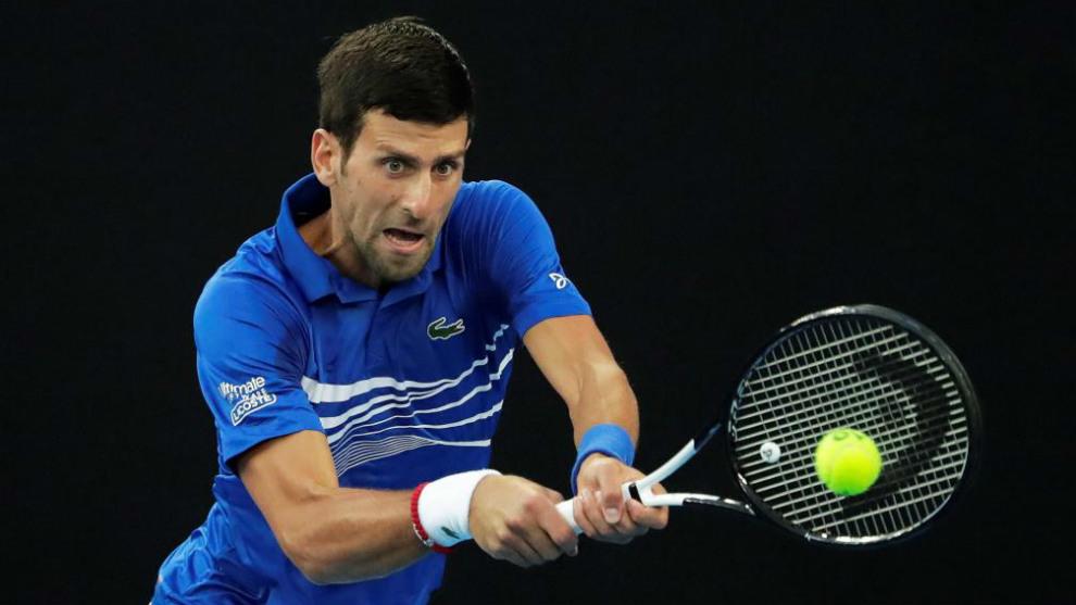 Novak Djokovic se sometió a un test de COVID-19
