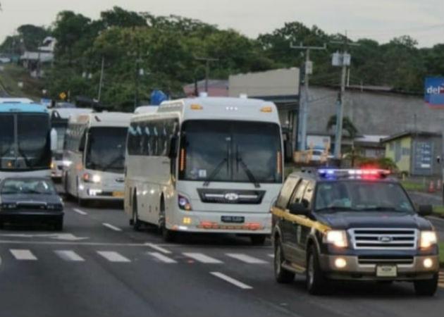 Grupo de nicaragüenses que estaban varados en Albrook llegan a Chiriquí