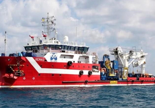 El Remas, un barco italiano, fue atacado dos veces en cinco meses en el sur del Golfo de México. Foto / EPA, vía Shutterstock.