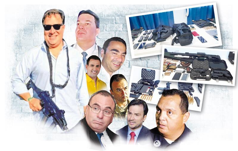 Armas eran 'muestras' y solo para el uso policial