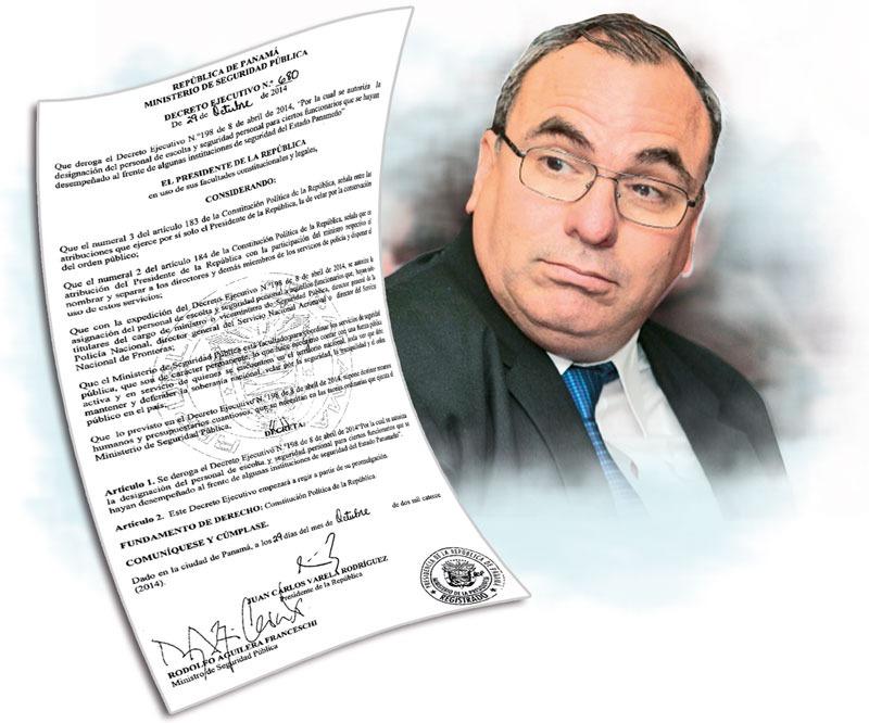 Rolando López cuenta con 10 escoltas pagados por el Estado panameño