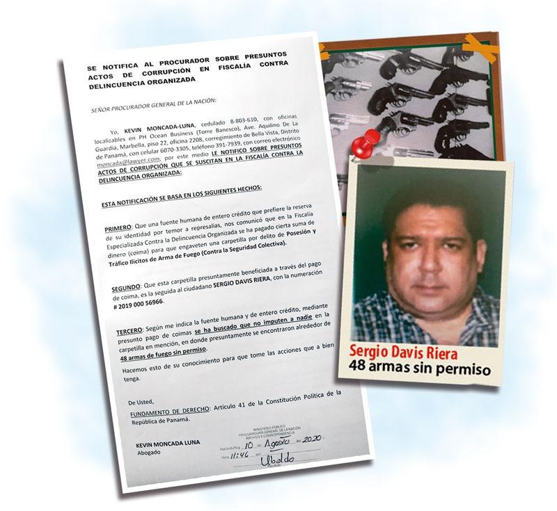 Abogado Kevin Moncada Luna denuncia pago de 'coimas' en caso de tráfico de armas