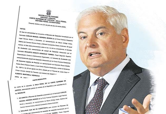 Duro revés sufren la Fiscalía y los querellantes: Sala Penal les rechaza casación sobre fallo que declaró no culpable a Ricardo Martinelli