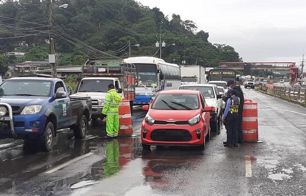 Resuelven quejas del transporte colectivo y de carga sobre el calvario de los cercos sanitarios en Panamá Oeste