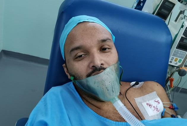 Abdiel Amor aún presenta secuelas por la enfermedad.