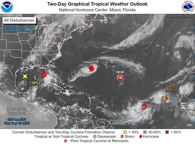 Esto sucederá en aguas del Golfo de México y antes de tocar algún punto de los estados sureños de Estados Unidos.
