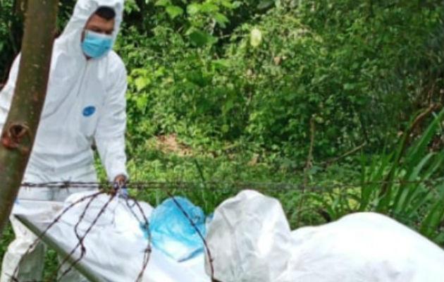 Se presume que los restos encontrados corresponden a una mujer. Foto: Mayra Madrid.