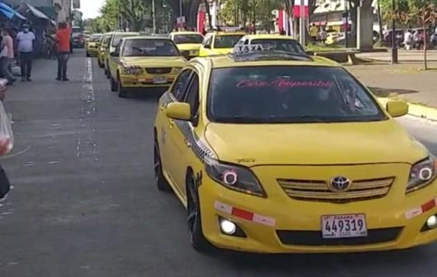 Taxistas realizan protestas en las provincias de Panamá Oeste y Colón