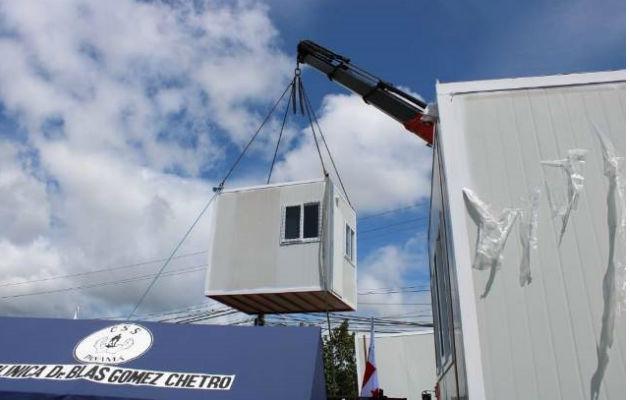 Uno de los contenedores almacenará insumos médicos quirúrgicos. Foto: Eric A. Montenegro.