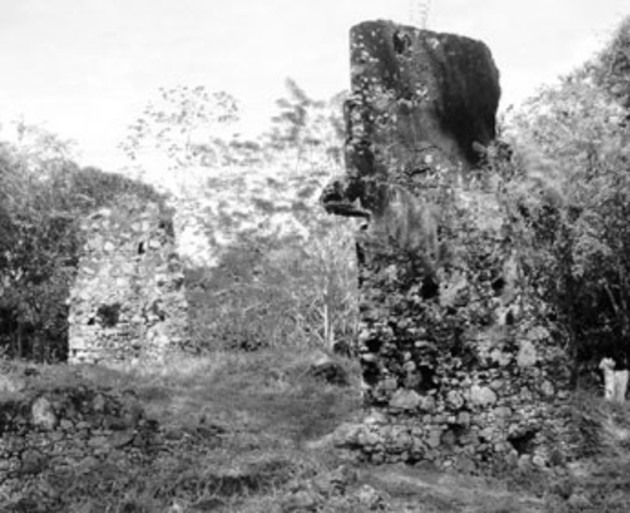Las ruinas de La Mitra fueron, durante la colonia, un retén militar en el Camino Real entre el desembarcadero del poblado de La Chorrera (Puerto Caimito) y el poblado de Capira. Foto: Archivo. Epasa.
