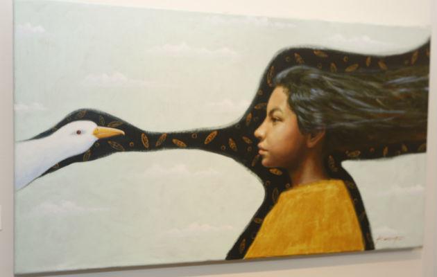 En Galería Allegro sigue abierta la muestra de Kansuet. Foto: Josué Arosemena.