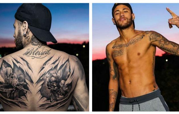 Conoce los nuevos tatuajes que se hizo Neymar
