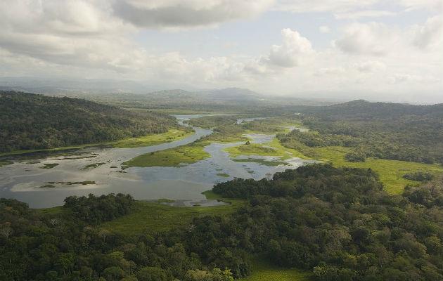 El Río Chagres es el principal afluente del Canal de Panamá. Los terratenientes en la Cuenca pueden tomar decisiones sobre el uso de la tierra más respetuosas con el medio ambiente cuando existen programas de Pago por Servicios de los Ecosistemas. Crédito:  Archivos Smithsonian