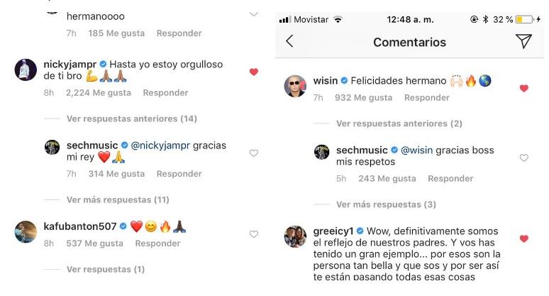 El Sech ignora a Kafú en Instagram tras felicitarlo por Sueños, su primer disco. Foto: @sechmusic.