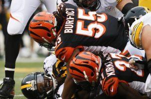A los Steelers  no le gustó lo actuado por Vontaze Burfict. AP