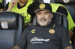 Maradona firmó recientemente con el equipo mexicano. EFE