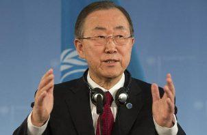 Ban Ki-moon participó en un foro sobre desarrollo sostenible  en la capital china. Archivo
