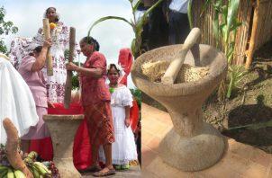 Varias parejas conforman la piladera, siempre teniendo como base el típico pilón, elaborado con madera de espavé. Archivo